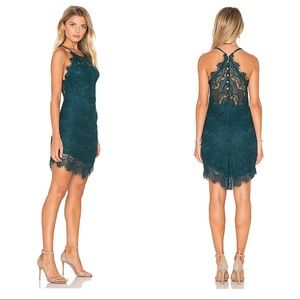 Free People She's Got It Dark Turquoise Lace Dress